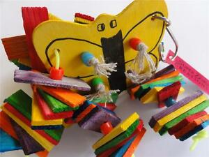 DICKY-BIRD-TOYS-CUTE-RAINBOW-BUTTERFLY-PARROT-TOY-FREE-POSTAGE-ALL-ORDERS-50