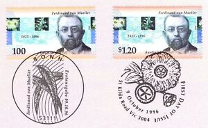 BRD-1996-Ferdinand-von-Mueller-Nr-1889-mit-australischer-Parallelausgabe-2002