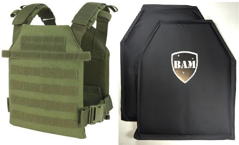 Level IIIA 3A   Body Armor Inserts   Bullet Proof Vest   Condor Sentry Vest -OD