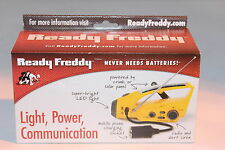 Ready Freddy Emergency Crank & Solar AM FM Radio with LED Flashlight