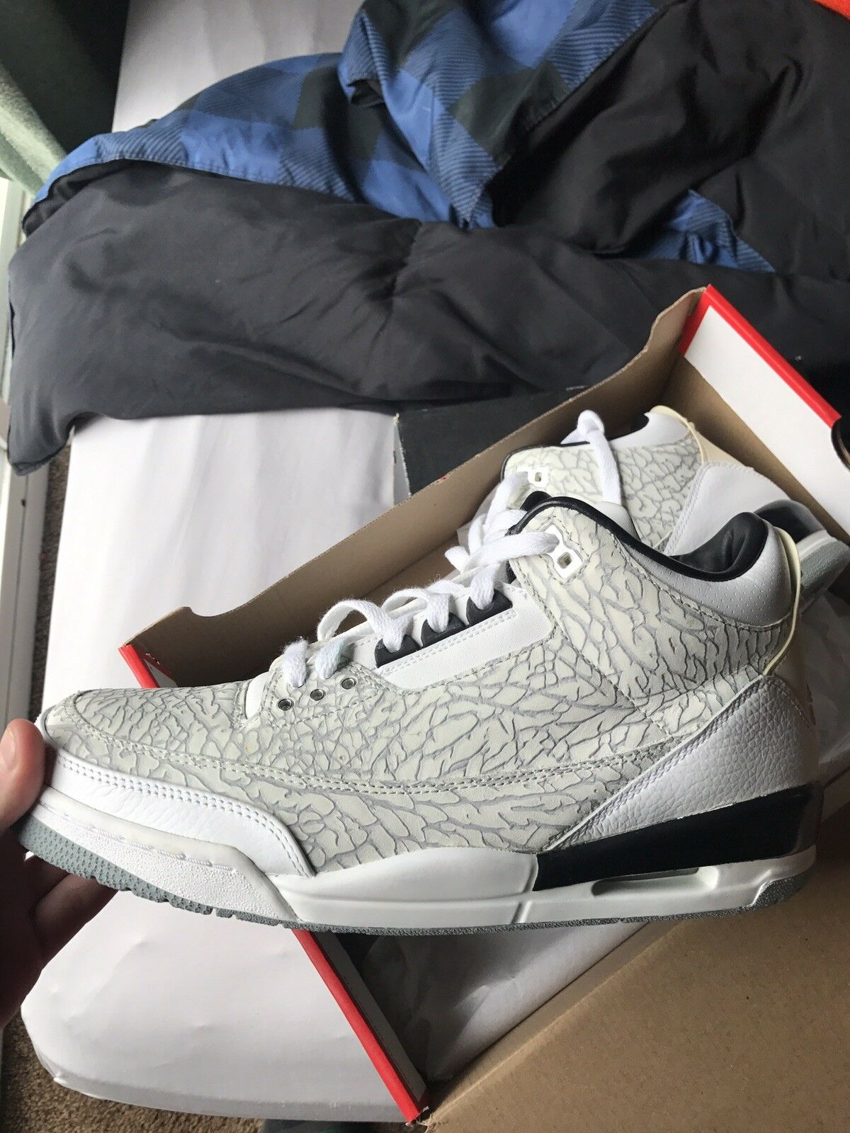 Air Jordan Retro 3 White Flip Brand discount