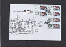 GB 2015 Post & Go 86th Scottish Congress Union Flag collector strip B1 FDC error