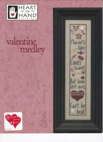 Heart in Hand VALENTINE MEDLEY CROSS STITCH CHART