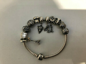 Genuine-Silver-Pandora-Bracelet-With-Charms