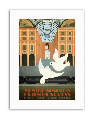 TRAIN ORIENT EXPRESS LONDON VENICE DOVE Poster Travel Canvas art Prints