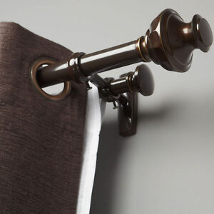 Urna Curtain Drapery Rod Bronze Double Rod Set Ebay