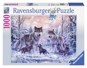Ravensburger 2014 Arctic Wolves 1000 Piece Jigsaw Puzzle New Gift Ebay