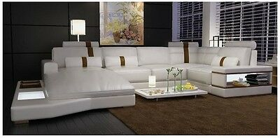 MODERN LEATHER SECTIONAL SOFA - 6104