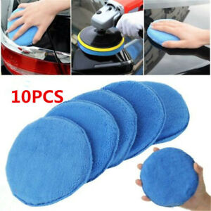 10-x-5-034-Car-Microfiber-Polishing-Pads-Wax-Applicator-Foam-Sponge-Cleaning-Buffer