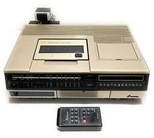Vintage-1980-Mitsubishi-HS-300U-Top-Loading-VCR-with-Remote-and-Sensor-Very-Rare