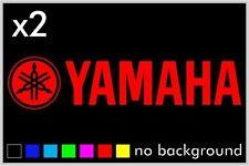 (2) Yamaha Sticker Decal Motorcycle Boat Window Tank Wheel Bike yz yzf fzr r1 r6
