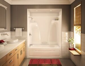 new tub and shower unit. Image Is Loading MAAX 60 034 X 33 1 4  75 ACTS 3360 THREE PIECE ACRYLIC TUB SHOWER