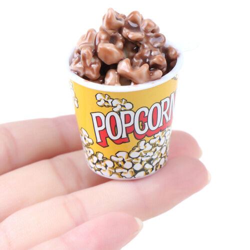 1Pc 1:6 Dollhouse Miniature A Bucket of Popcorn Toy Pretend Play Kitchen Toys FD