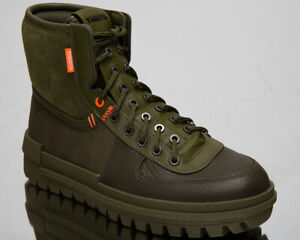 Details about Nike Xarr Men\u0027s Medium Olive Green Black High Sneakers Boots  Fall Winter Shoes