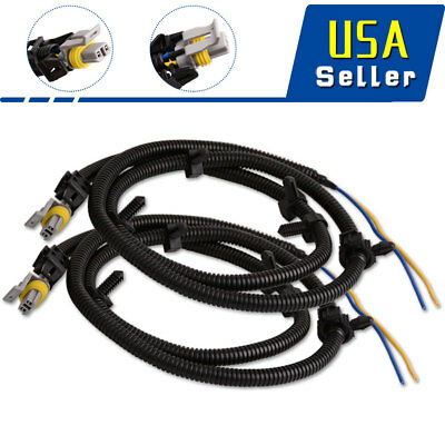 2X ABS Wheel Sd Sensor Wire Harness For Chevrolet Impala Monte Carlo Abs Wire Harness on