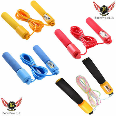 Gym Boxing Fitness Workout Skipping Rope Exercise Rope With Counter Jump Speed