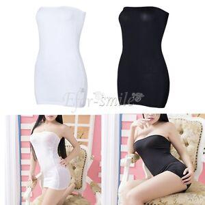 US-Strapless-Bodycon-Tube-Sleeveless-Top-Dress-Stretch-Mini-Slim-Clubwear-Party
