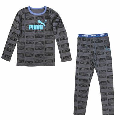 Puma Boys T-Shirt Tee Top Bottoms Pack Pyjamas PJs Set Grey 893532 07 A2B   eBay