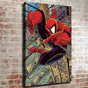 """12/""""x18/""""Spiderman Picture HD Canvas prints Painting Home decor Photos Wall art"""