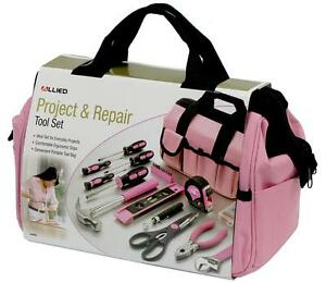 Image Is Loading Las Pink 76pc Tool Bag Set Kit Women