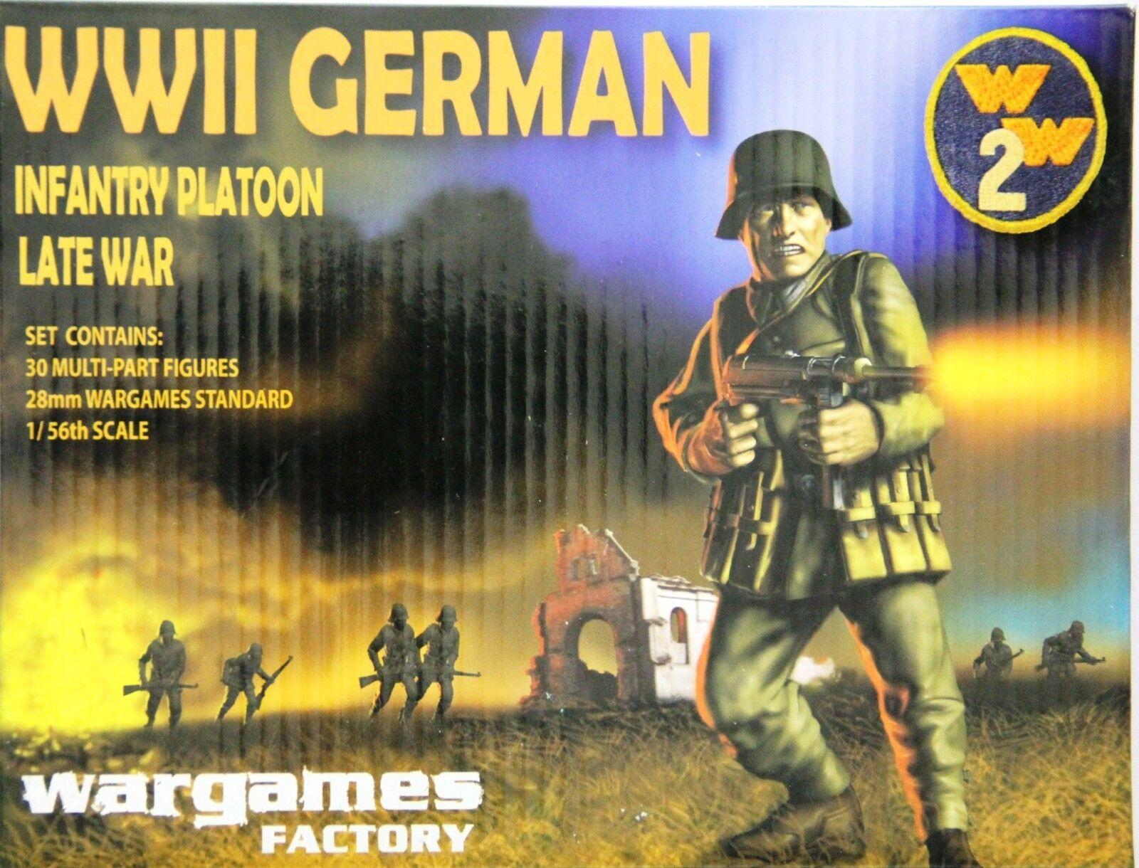 W2001 wargames fabrik  im zweiten weltkrieg deutsche infanterie platoon 28mm letzten krieg (30 zahlen)