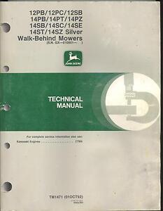 s l300 john deere tm1471 technical tech manual 14pz 14sb 14sc 14se walk