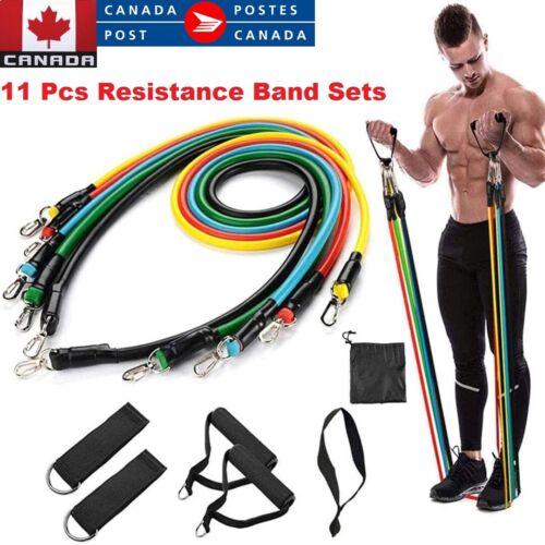 11Pcs Set Resistance Bands Workout Exercise Yoga Crossfit Fitness Training Tubes