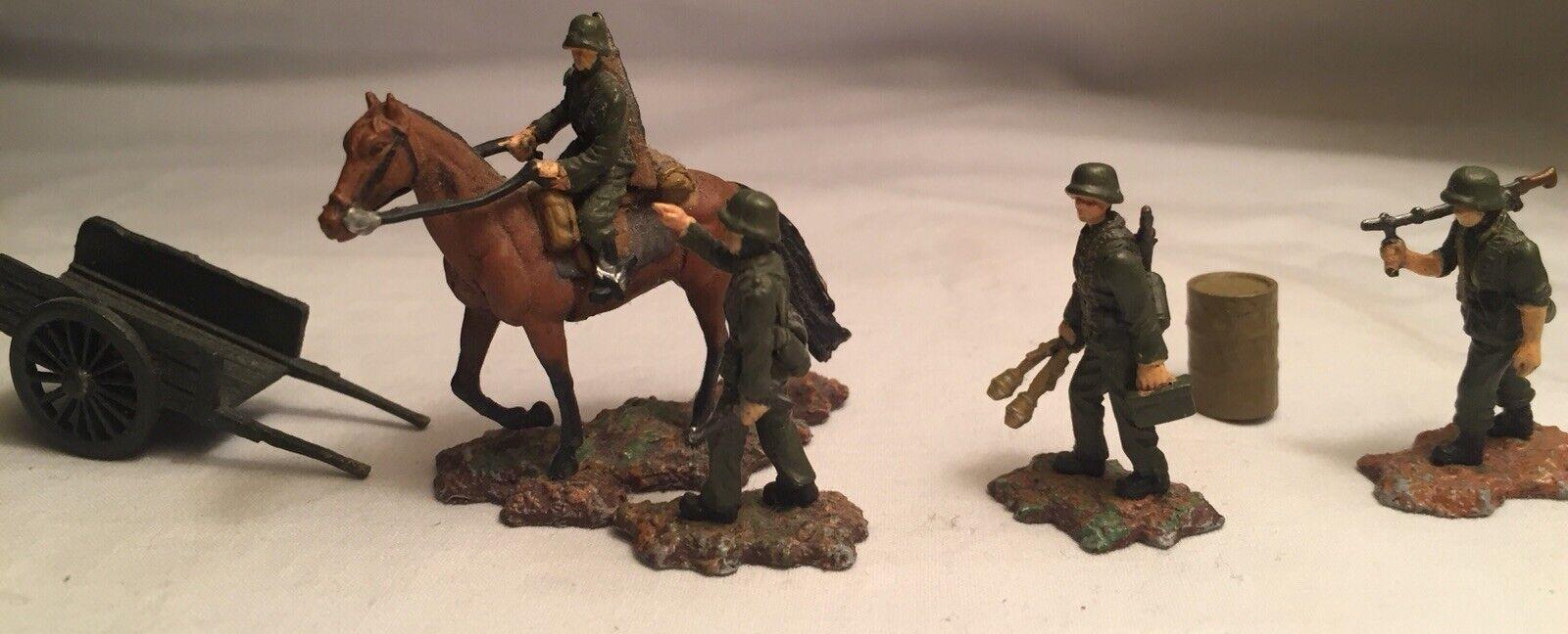 1 87 Scale  Miniature WW2 Geruomo Soldiers Horse Wagon MG42 cifras  per offrirti un piacevole shopping online