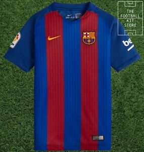 newest 6974f 3fa6a Details about Barcelona Home Shirt - Nike FCB Barca Football Jersey - Boys  - All Sizes