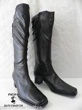Bottes ARTIKA SOFT noir FEMME cuir ZIP talon taille 38 boots black woman NEUF
