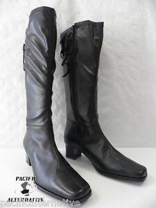 Boots Cuir Zip Talon Soft Artika Noir Black 38 Femme Bottes Neuf Taille Woman zAq6w