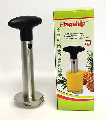 HP Stainless Steel Pineapple Slicer Kitchen Bar Tool Gadget Fruit Core Peeler