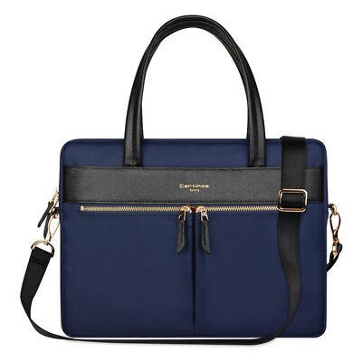"""Cartinoe 15"""" Laptop Sleeve Case Bag Blue Briefcase Shoulder Bag for MacBook HP"""