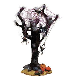 "RARE RETIRED Lemax ""SPIDER TREE"" Spooky Town Accessory NIB Halloween Village"