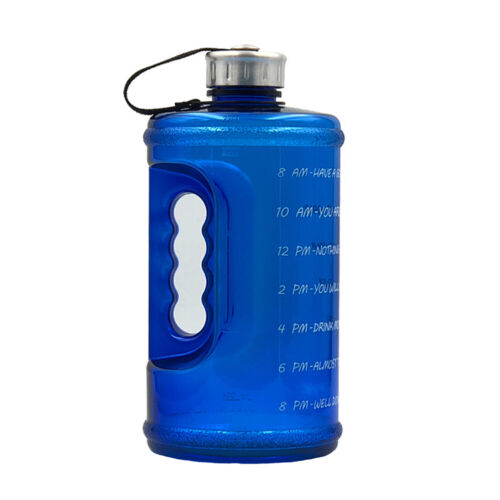 Carry Water Bottle Large Capacity Outdoor Sports Travel With Time Marker