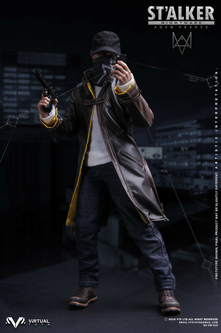 1 6 VTS Virtual Toys VM016 Nightmare Stalker Watch Dogs Aiden Pearce Figure
