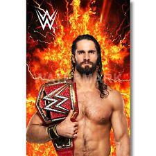 Custom Seth Rollins WWE Personalized Art Print Poster Wall Decor