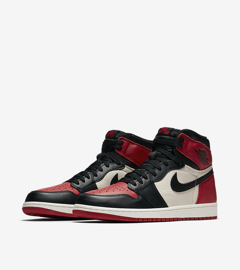 Nike Air Jordan 1 retro High og bred top Toe Oro off Blanco top bred eu 44/us 10new 079260