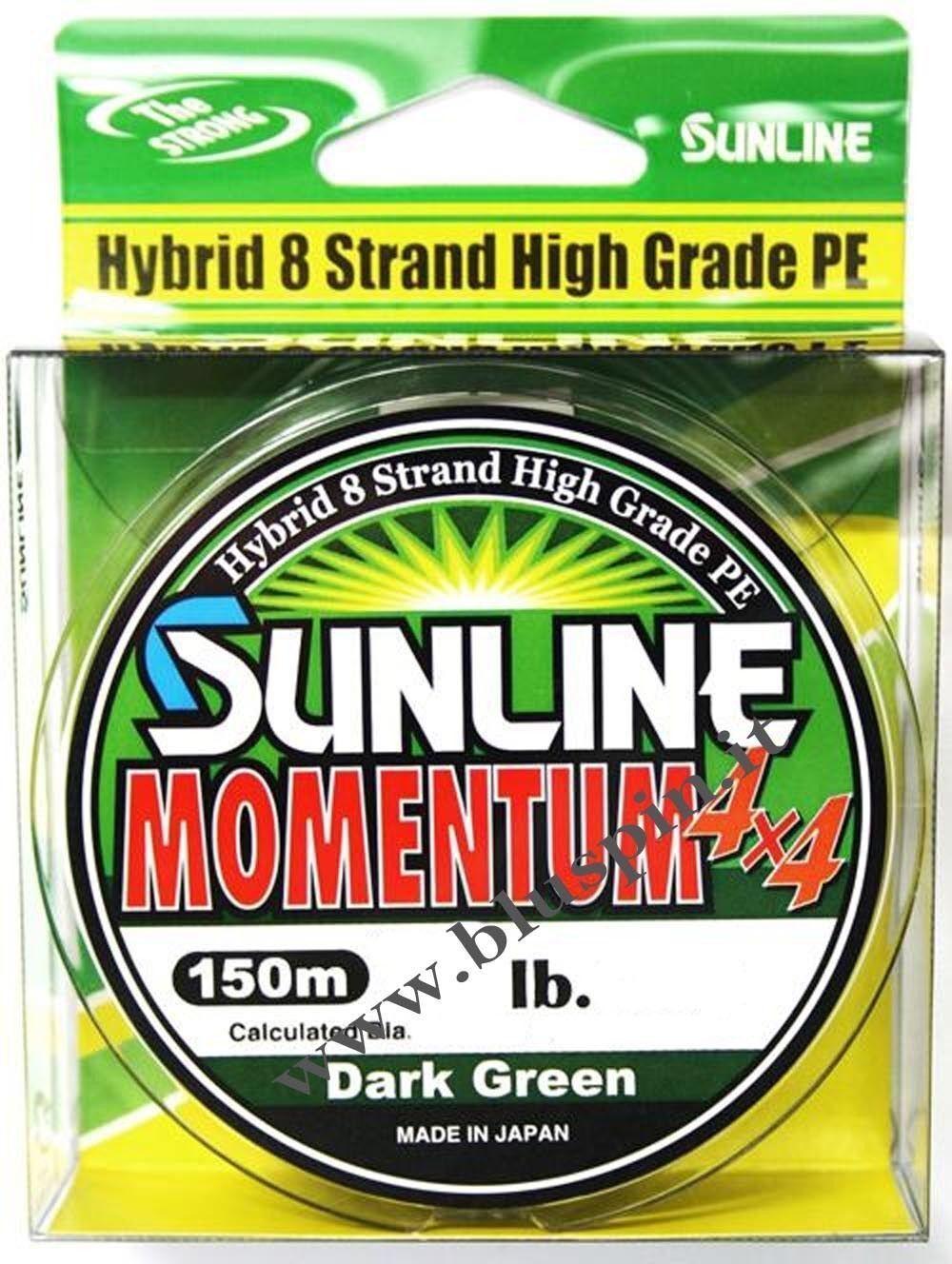 NEW Sunline Momentum 4x4 - 8 strand  High Grade PE  Trecciato 8 Fili Hybrido 16lb  online barato