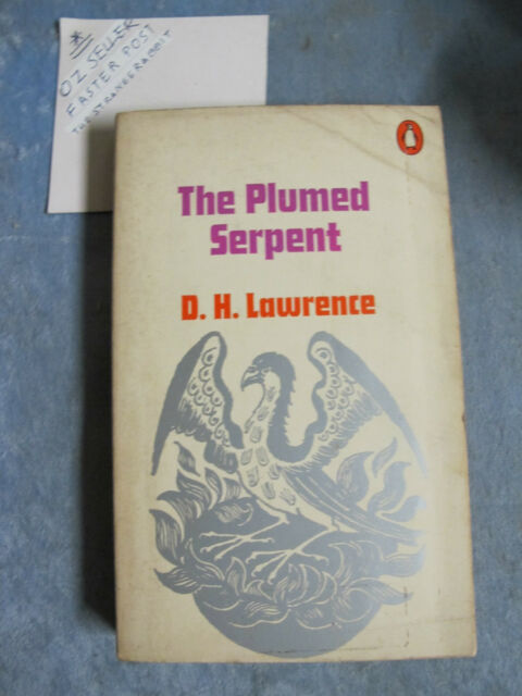 The Plumed Serpent - D H Lawrence OzSellerFasterPost!