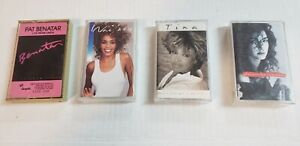 Lot-of-4-80-039-s-Music-Cassette-Tapes-Ladies-from-the-80-039-s-Pat-Whitney-Tina-Gloria