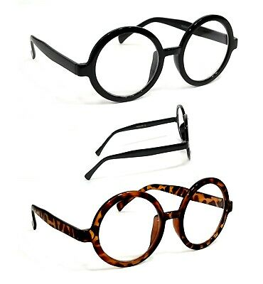 NWT Vintage Round Clear Lens Glasses Lucky Style Eyeglasses Metal Frame