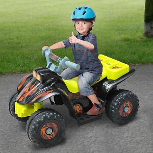 HOMCOM Moto Eléctrica Niño 18 Mes 65x43x43cm Quad Batería 6V 2.5 km/h Carga 20kg