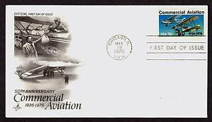 #1684 13c Commercial Aviación, Arte Artesanía FDC Cualquier 5=