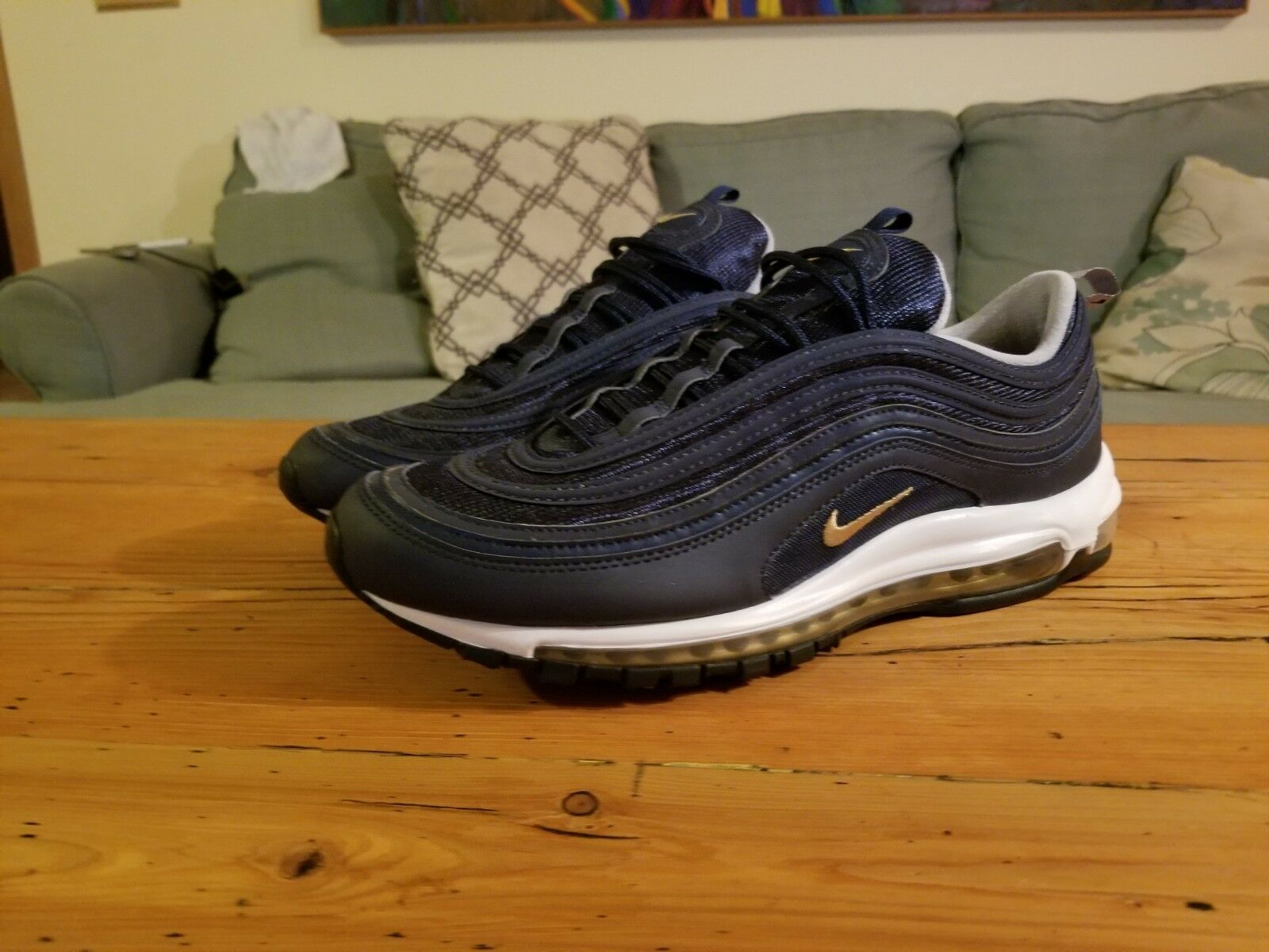 f25df5d644 Nike Air Max 97 Midnight Navy gold Mens Size 14 New Authentic ...
