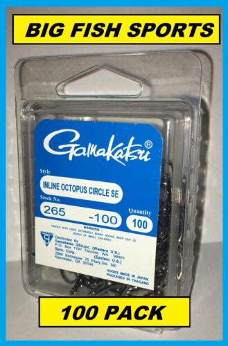 PICK YOUR SIZE! GAMAKATSU #265 INLINE OCTOPUS CIRCLE SE BULK PACK 100 HOOKS