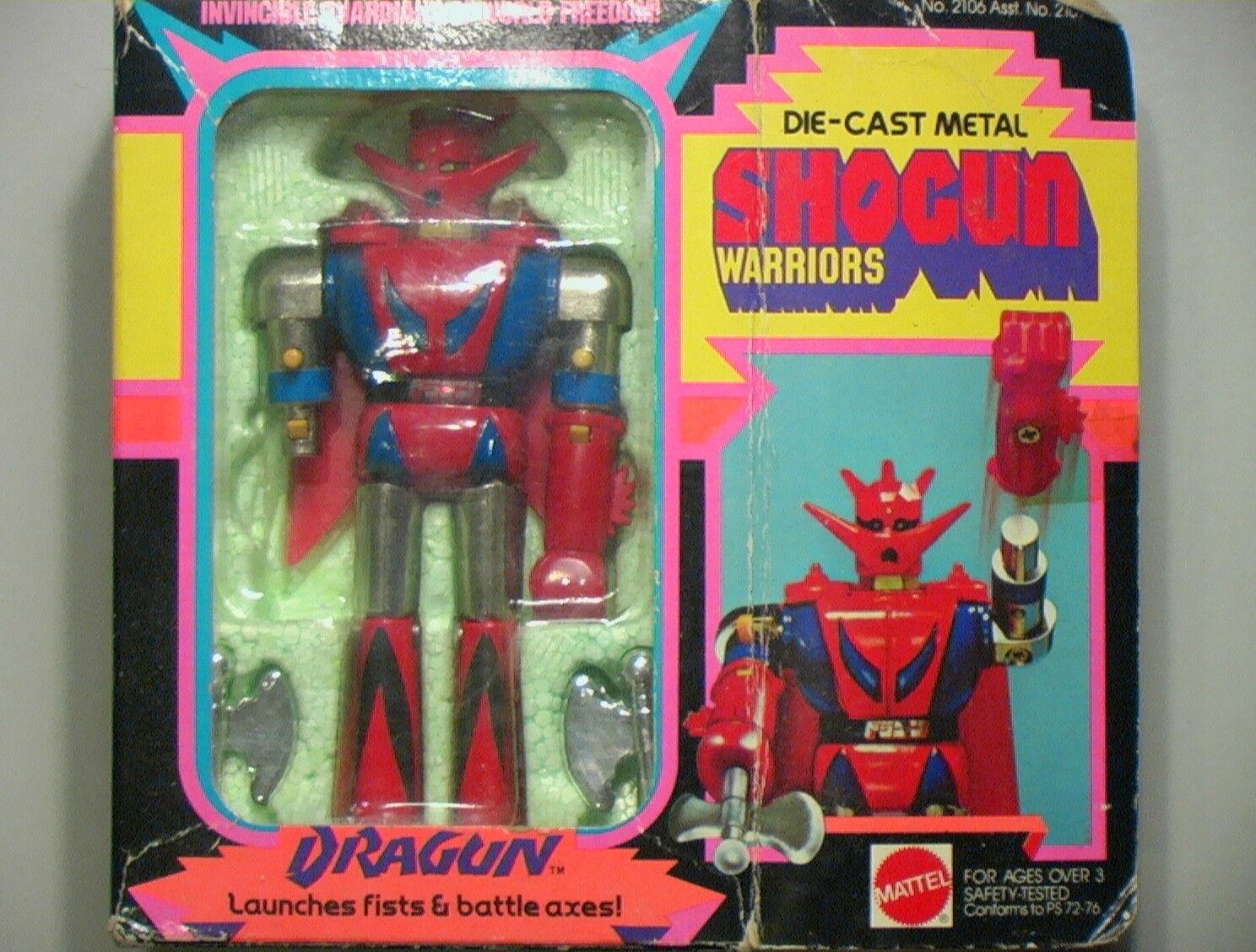 Shogun Warriors VINTAGE 1977 Dragun 5  Incomplete w Box Instrc C-6 Mattel Bandai