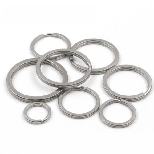 10PCS 10PCS Keyrings Stainless Steel Keychain Silver Tone Key Holder