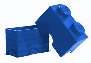 Lego Boite rangement XXL 2 plot bleu Blue Lego Storage box Blau Aufbewahrungsbox