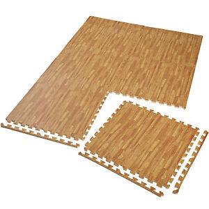 6er-Set-Schutzmatte-Bodenmatte-Unterlegmatte-Fitness-Gymnastik-Puzzle-Holzoptik